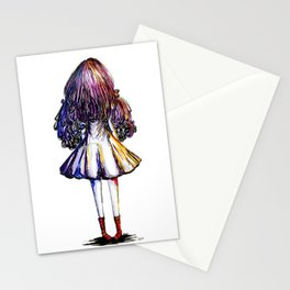 Faceless Girl and Red Doc Stationery Cards