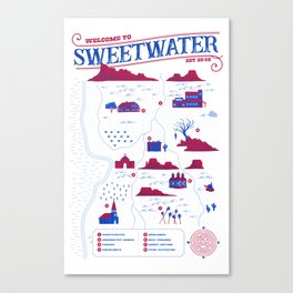 Welcome to Sweetwater Canvas Print
