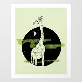Giraffe in geometric style Art Print