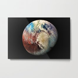 Planet Pluto Deep Space Space Craft Pass By Telescopic Photograph Metal Print