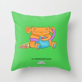 The GorgledeeFuzzwoopsydayzee Throw Pillow
