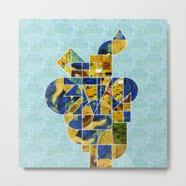Art History Geometry: Van Gogh & Klimt Metal Print