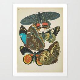 Art Nouveau Butterfly Art Print