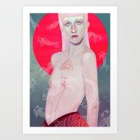 koi Art Prints featuring Koi by Josh Merrick