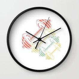 Retro dumbbell Wall Clock