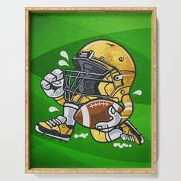 American football - Golden Player, Gift for fan boy Serving Tray