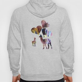 llama art love Hoody