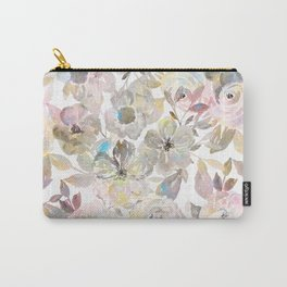 Elegant whimsical grey watercolor roses Carry-All Pouch