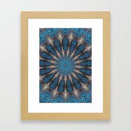 Golden Web Mandala Framed Art Print