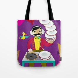 DJ Moustache  Tote Bag