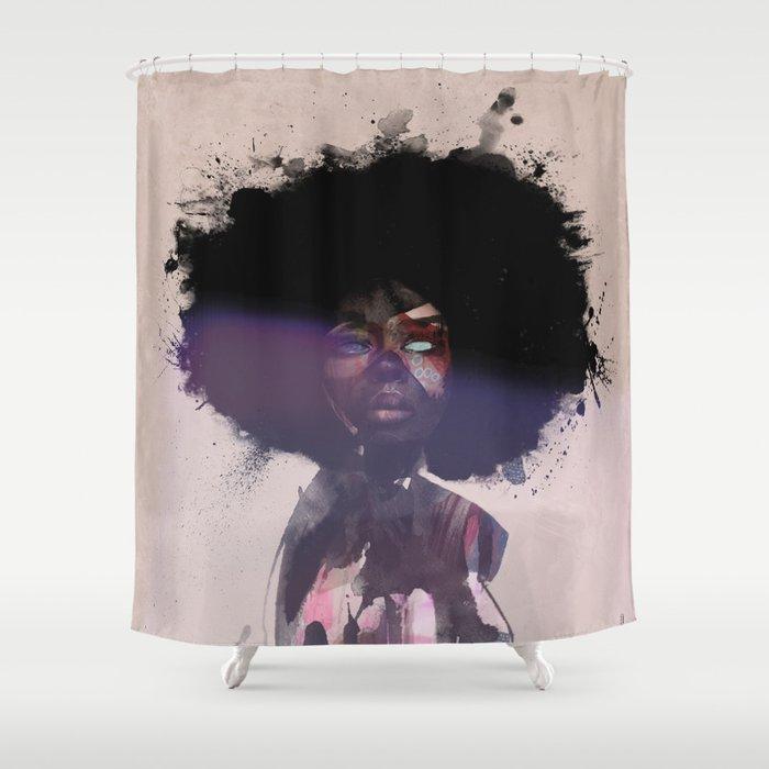 Afro Funk Shower Curtain By Robertscholten