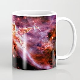 Burgundy Purple Orange Galaxy Nebula Coffee Mug