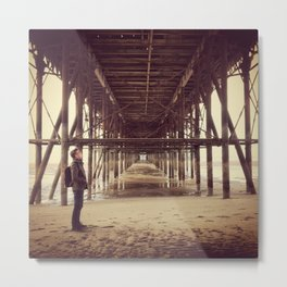 Under the Piers Metal Print