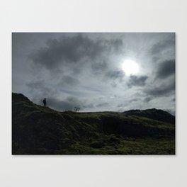 Hiker on the Ridge Canvas Print
