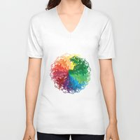 terry fan V-neck T-shirts featuring Fan by kartalpaf