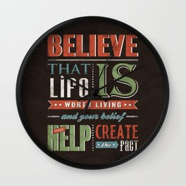 Choose To Believe Wall Clock