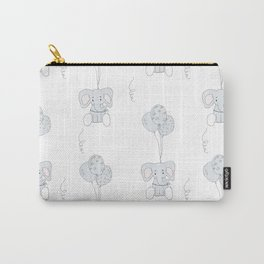 Elephants with Balloons Carry-All Pouch