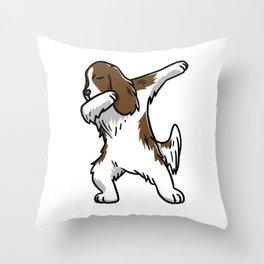 Funny Dabbing English Springer Dog Dab Dance Throw Pillow