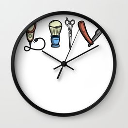 Funny Barber design Hairdresser Gift Wall Clock