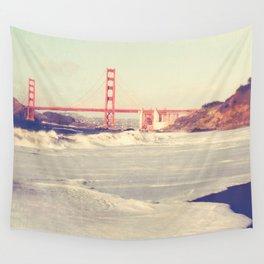 Golden Gate Bridge. Love Song Wall Tapestry