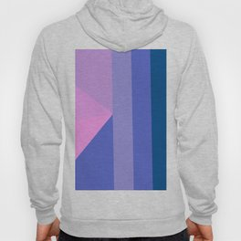 Geometrical modern pastel pink lilac blue stripes triangles Hoody