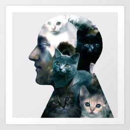 Ben Johnston Kittens Art Print