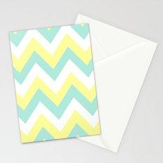MINT & YELLOW CHEVRON Stationery Cards