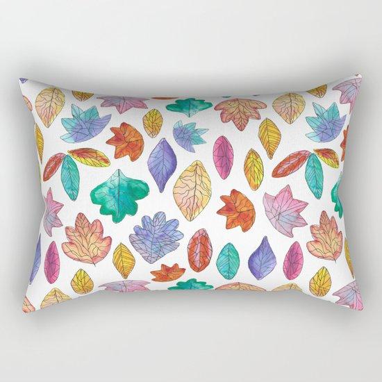 Watercolor Leafs Rectangular Pillow
