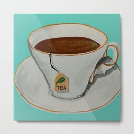 Tranquil Tea Time Metal Print