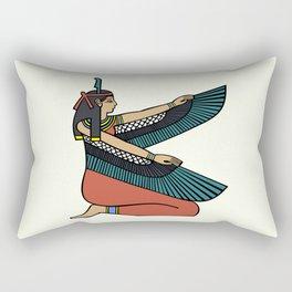 Egyptian goddess maat with wings Rectangular Pillow