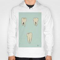 teeth Hoodies featuring Teeth by Kelly Gillin-Schwartz