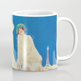 Blackpool, England Vintage Travel Poster Coffee Mug
