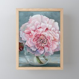 Peony Memories Flower Painting Framed Mini Art Print