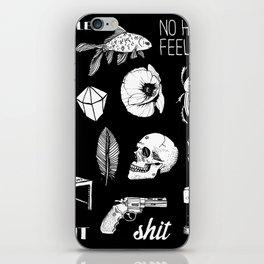 NO HEART FEELINGS iPhone Skin