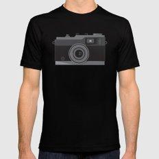Cameraman Film Crew Vintage Movie Camera Retro Mens Fitted Tee Black MEDIUM