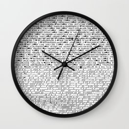 some digital code symbols that came out of my printer  software code mystery  avant guard Wall Clock