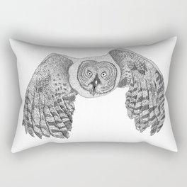 Flying Great Grey Owl Rectangular Pillow