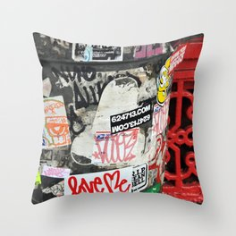 Stickers Throw Pillow