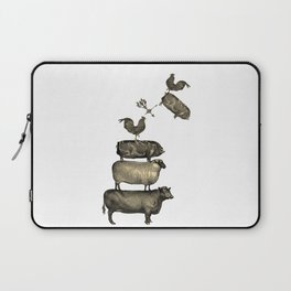 Farm Living - Stacked Animals Laptop Sleeve