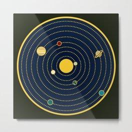 Atomic Solar System Metal Print