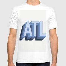Atlanta White Mens Fitted Tee MEDIUM