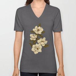Magnolias Unisex V-Ausschnitt