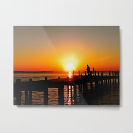 A summer sunset Metal Print