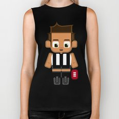 Super cute sports stars - Black and White Aussie Footy Biker Tank