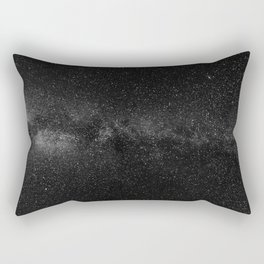 The Starry Sky (Black and White) Rectangular Pillow