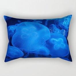 Blue Jellyfish I Rectangular Pillow