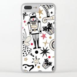 Nutcracker Silhouettes Clear iPhone Case