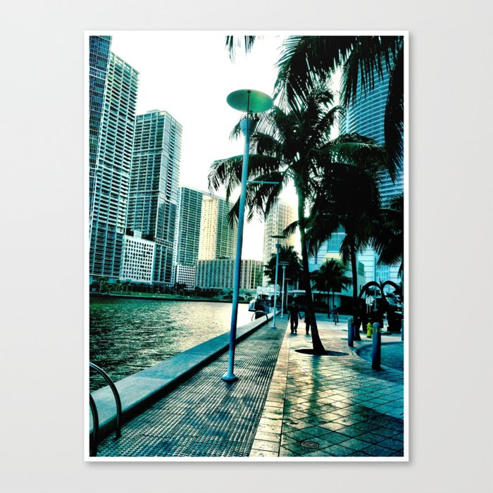 concrete shore Canvas Print