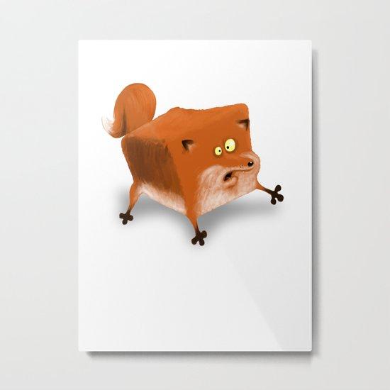 Box in a Fox Metal Print
