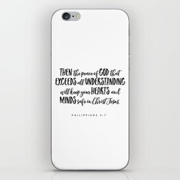 Philippians 4:7 Bible Verse iPhone Skin